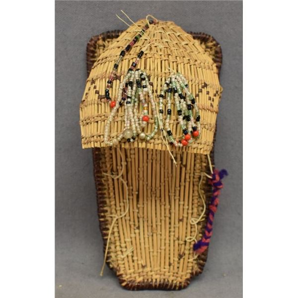 MONO INDIAN BASKETRY TOY CRADLE