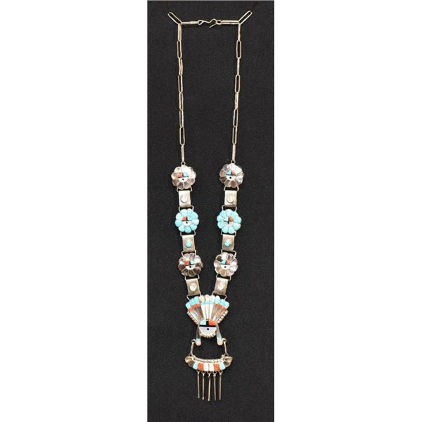 ZUNI INDIAN NECKLACE ( WALTER & BETTY LALIO)