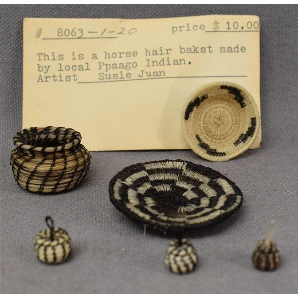 PAPAGO INDIAN HORSE HAIR BASKETS