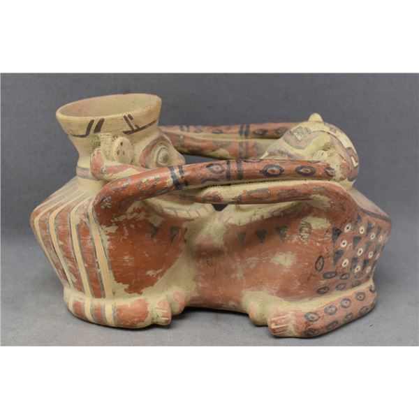 DECORATIVE POTTERY SEATED FIGURES