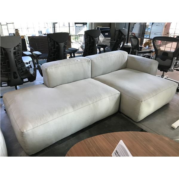 """HAY MAGS SOFT LOW BEIGE 96"""" CHAISE LOUNGE SOFA"""