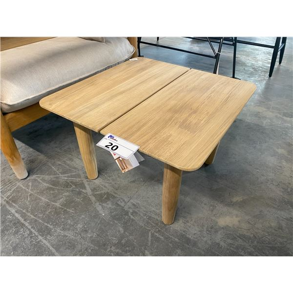 """DESIGN WITHIN  REACH TERASSI ASH 22"""" X 22"""" SIDE TABLE  RETAIL PRICE $648.28 CAN."""