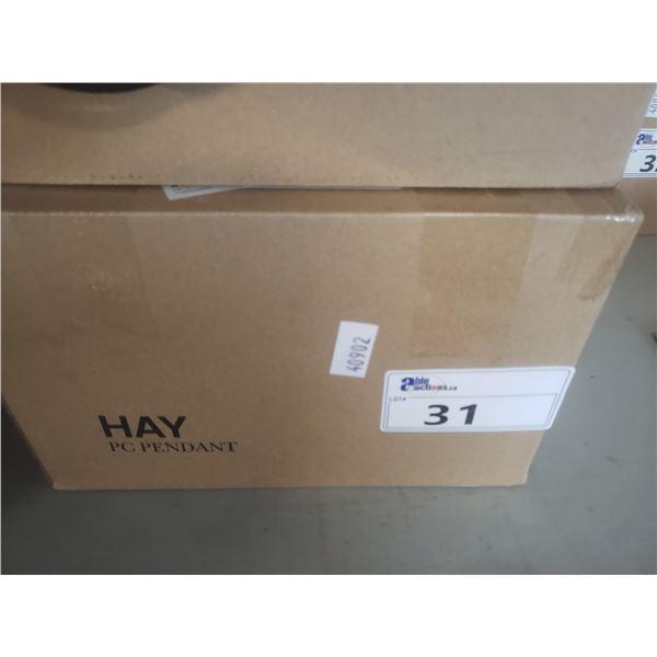 HAY PC PENDANT BLACK LIGHT FIXTURE RETAIL PRICE $181.00 CAN.