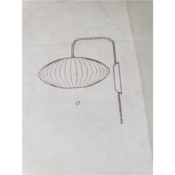 HERMAN MILLER NELSON BUBBLE LAMP WALL SCONCE  RETAIL PRICE $618 CAN.