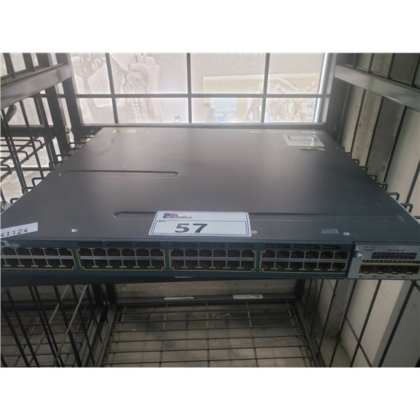 CISCO 3560 X-SERIES 48 PORT NETWORK SWITCH - NO POWER SUPPLY