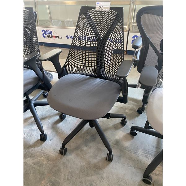 HERMAN MILLER SAYL CHARCOAL/BLACK FULLY ADJUSTABLE TASK CHAIR  RETAIL PRICE $1168 CAN