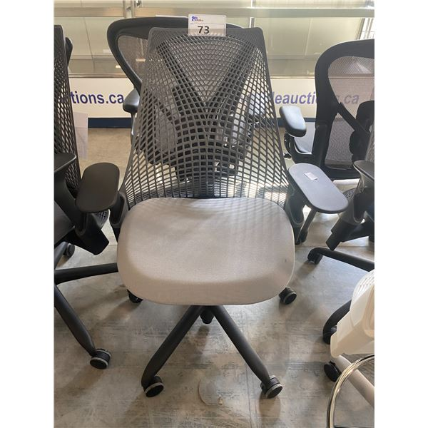 HERMAN MILLER SAYL SHALE/GREY FULLY ADJUSTABLE TASK CHAIR RETAIL PRICE $$1168 CAN.