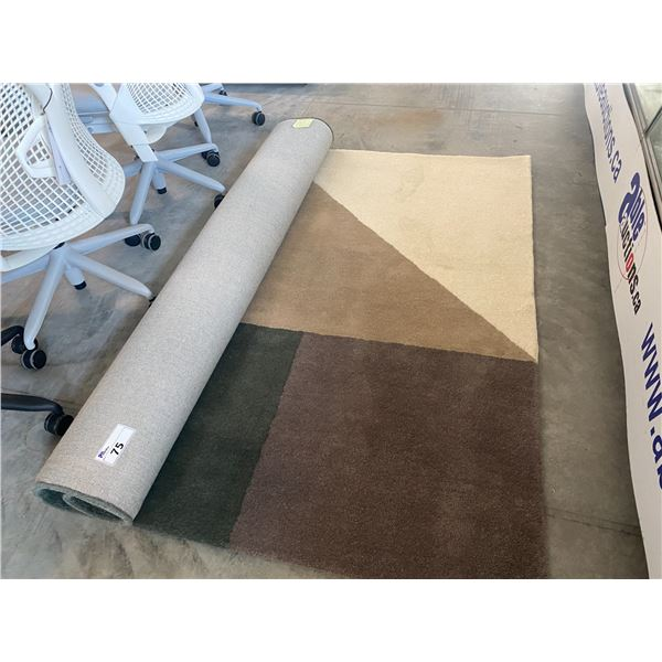 DESIGN WITHIN REACH PEAS SOFT GRAY 6.5' X 10' RUG  RETAIL PRICE $1243 CAN.