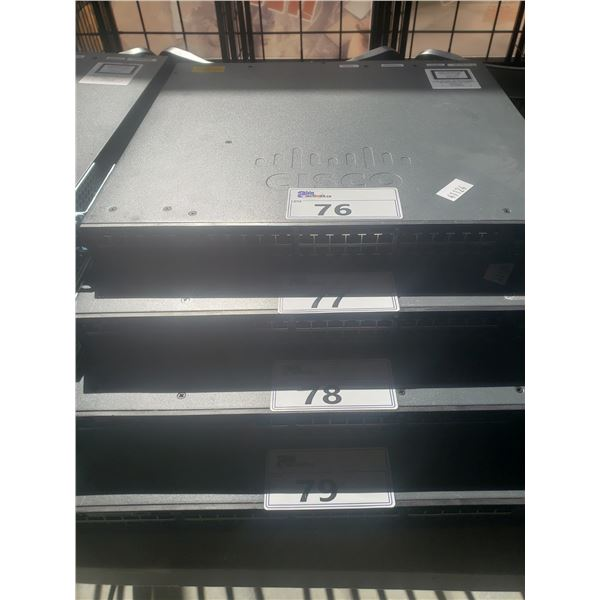 CISCO CATALYST 3650 48 POET 4X1GB NETWORK SWITCH - NO POWER SUPPLY