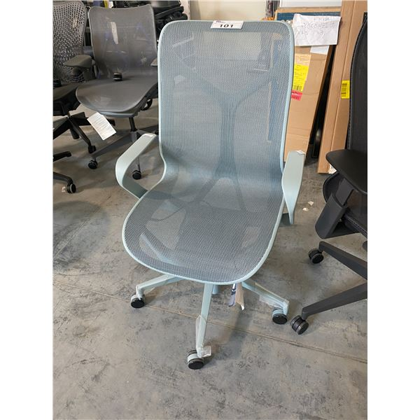 HERMAN MILLER COSM GLACIER MID-BACK EXECUTIVE CHAIR  RETAIL PRICE $1806 CAN.