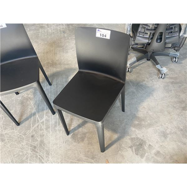HAY ELEMENTAIRE BLACK PLASTIC SIDE CHAIR  RETAIL PRICE $118 CAN.