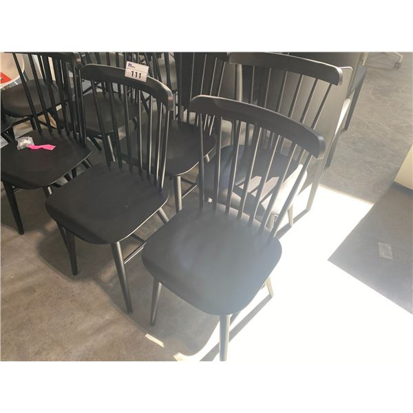 SET OF 4 TON SALT BLACK SIDE CHAIRS RETAIL PRICE $218 CAN PER CHAIR