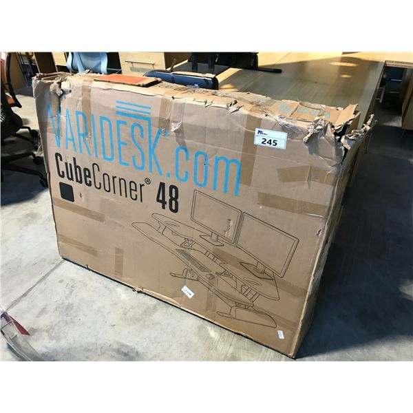 VARIDESK CUBE CORNER 48 SIT/STAND ARTICULATING MONITOR STAND (IN BOX)