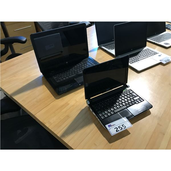 ACER ASPIRE ONE LAPTOP AND HP 2000 LAPTOP (NO HARD DRIVES, CONDITION UNKNOWN) NO POWER CORD