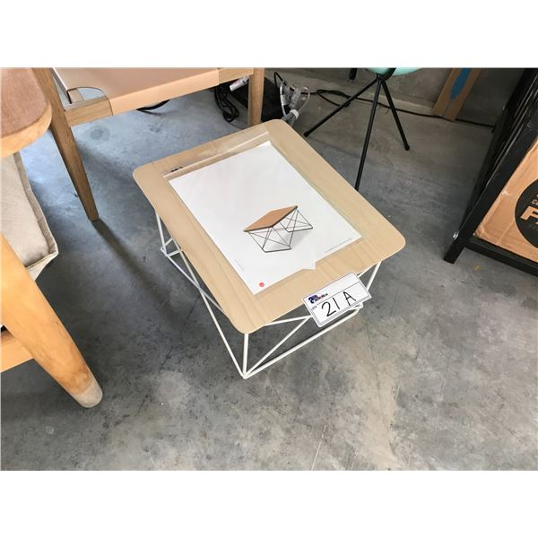 HERMAN MILLER EAMES LIGHT WOOD/WIRE BASE LOW TABLE RETAIL PRICE $370