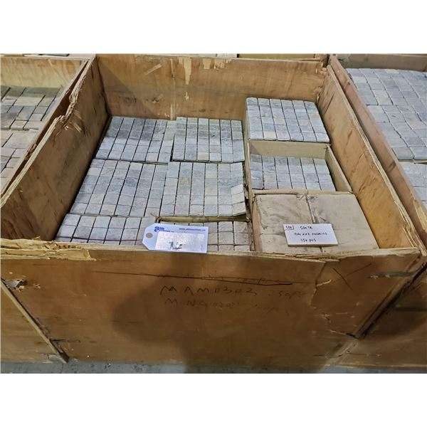 """PALLET OF 430 PCS OF 2X2"""" MULTI GREY MOSAIC TILE ON 12X12"""" SHEETS"""