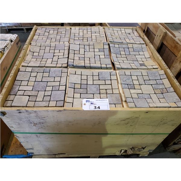 """PALLET OF 450 PCS OF 12X12"""" SHEETS STONE"""