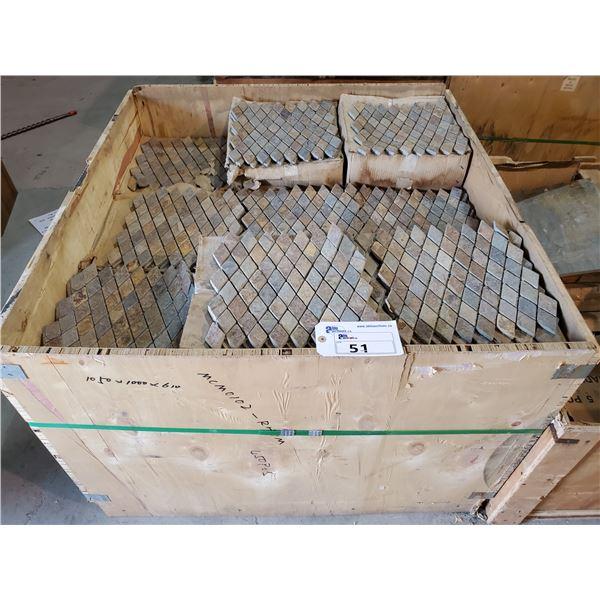 """PALLET OF 450 PCS OF 12X12"""" SHEETS OF RHOMBOID SLATE MOSAIC TILE"""