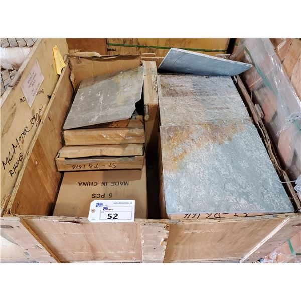 """PALLET OF APPROX 85 PCS OF 15.75X15.75"""" SLATE TILE"""