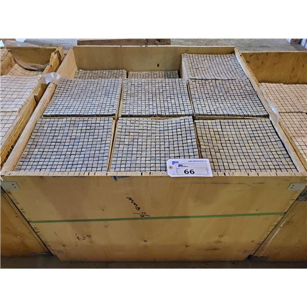 "PALLET OF 450 PCS OF 5/8"" MULTI BROWN SLATE 12X12"" SHEETS OF TILE"