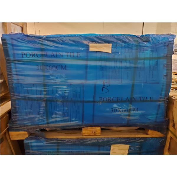 "PALLET OF 450 PCS OF 24X12"" CAPPUCCINO COLOURED PORCELAIN TILE"