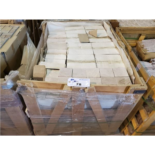 """PALLET OF 1000 PCS OF 4X4"""" TUMBLED MARBLE TILE"""