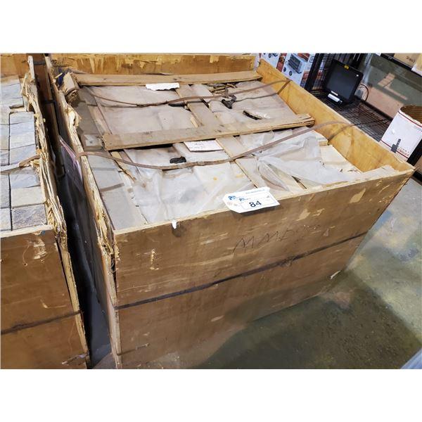 "PALLET OF 450 PCS OF 3X3"" - 12X12"" SHEET MULTI BROWN SLATE MOSAIC TILE"