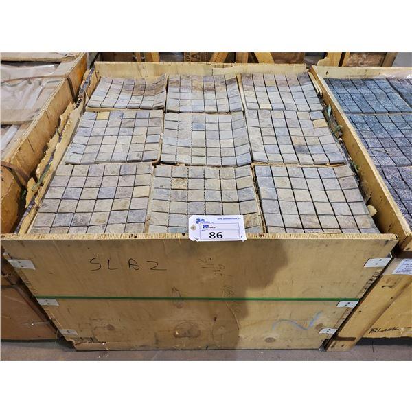 "PALLET OF 450 PCS OF 2X2"" - 12X12"" SHEET MULTI BROWN SLATE MOSAIC TILE"