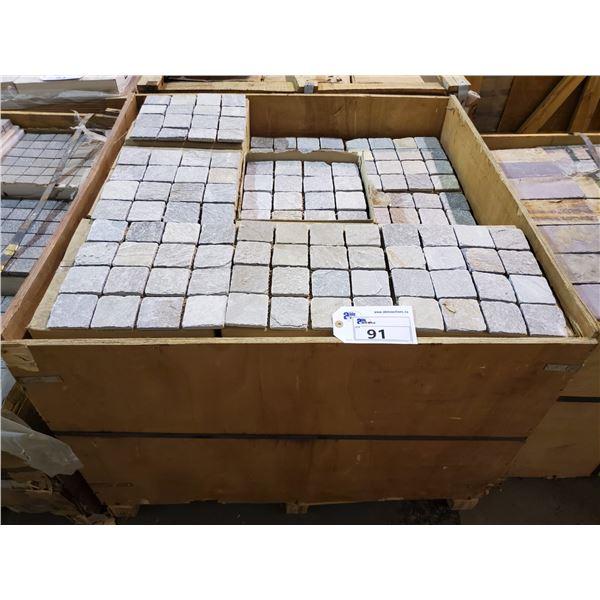 "PALLET OF 430 PCS OF 3X3"" - 12X12"" SHEET NATURAL GREY TILE"