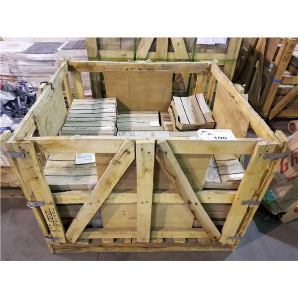 """PALLET OF 2430 PCS OF 4X4"""" RAM FOREST TUMBLED MARBLE TILE"""