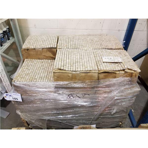 """PALLET OF 510 PCS OF 5/8"""" - 12X12"""" MULTI COLOUR TILE SHEETS"""