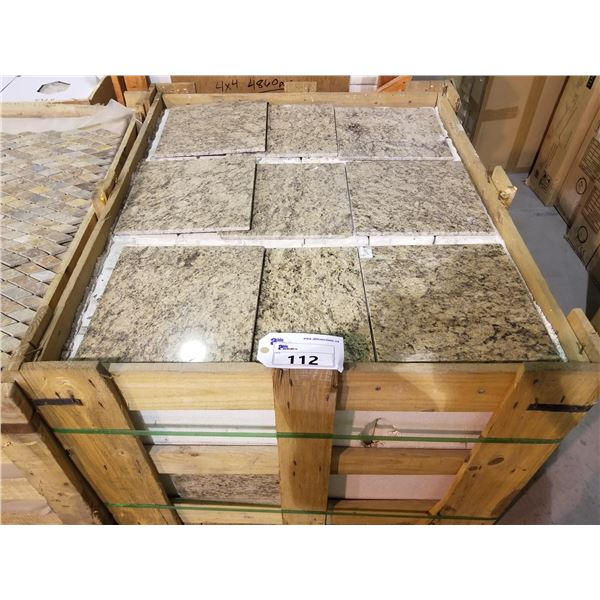 """PALLET OF APPROX 450 PCS OF 12X12"""" MULTI BROWN TILE"""