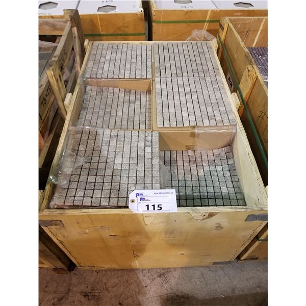 "PALLET OF 250 PCS OF 12X12"" SEA GREEN MOSAIC QUARTS TILE"