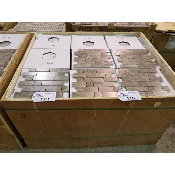 "PALLET OF 450 PCS OF 2X12"" FILICIA TILE"