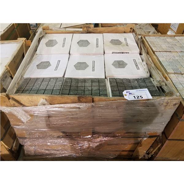 "PALLET OF 450 PCS OF 2X2"" - 12X12"" GRANITE MOSAIC TILE SHEETS"