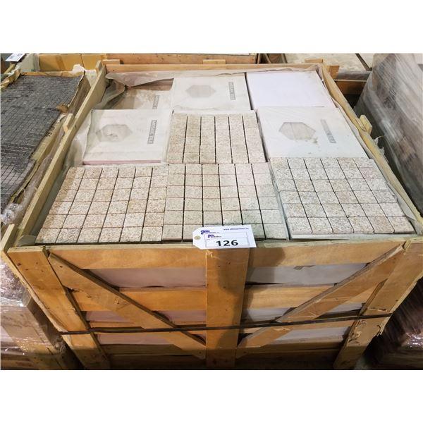 """PALLET OF 440 PCS OF 2X2"""" - 12X12"""" QUARTZ SLATE TILE SHEETS"""