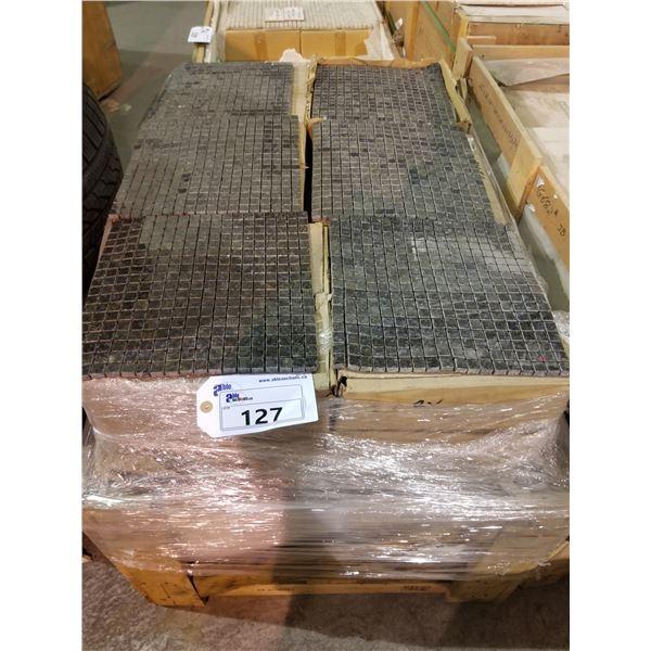 """PALLET OF APPROX 450 PCS OF 5/8"""" - 12X12"""" BLUE VENIZIANO GRANITE MOSAIC TILE"""
