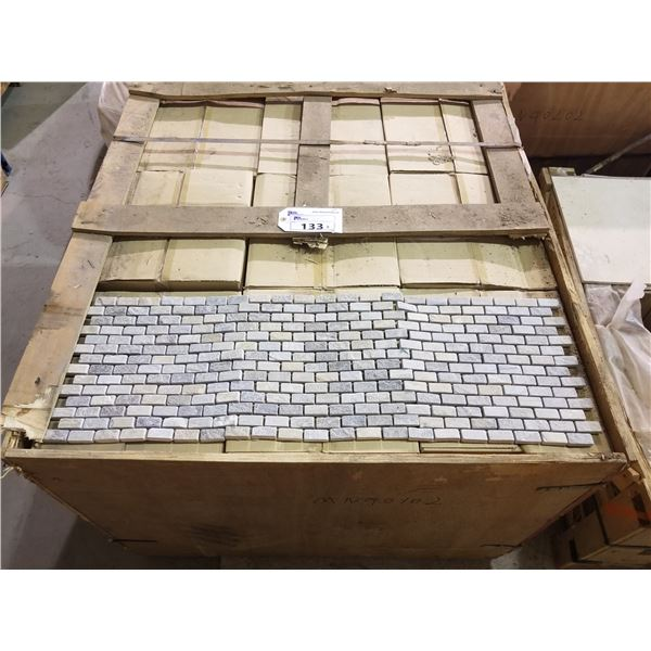 "PALLET OF 450 PCS OF 1X2"" - 12X12"" NATURAL GREY SLATE MOSAIC TILE SHEETS"