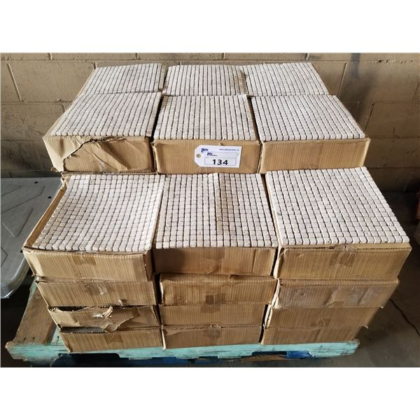 """PALLET OF APPROX 400 PCS OF 1X1"""" - 12X12"""" CLASSIC CREAM MOSAIC TILE"""