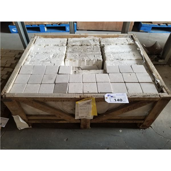 "PALLET OF 1620 PCS OF 4X4"" CAPPUCCINO DARK TILE"