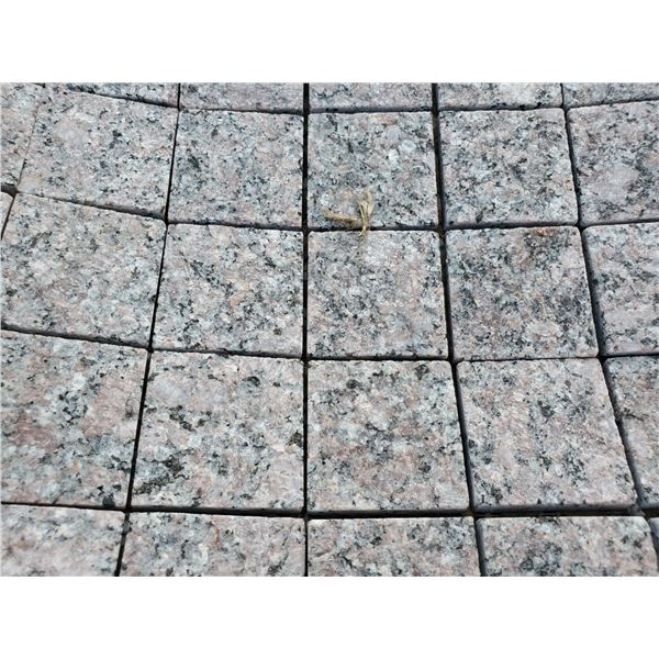 """PALLET OF ASSORTED 2X2"""" ON 12X12"""" SHEET GRANITE MOSAIC TILE"""