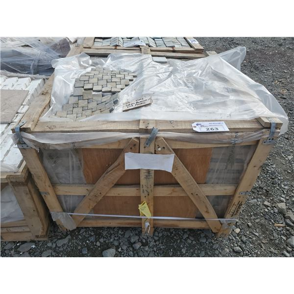 """PALLET OF APPROX 189 PCS OF 2X2"""" ON 12X12"""" SHEETS INDIAN AUTUMN SLATE MOSAIC TILE"""