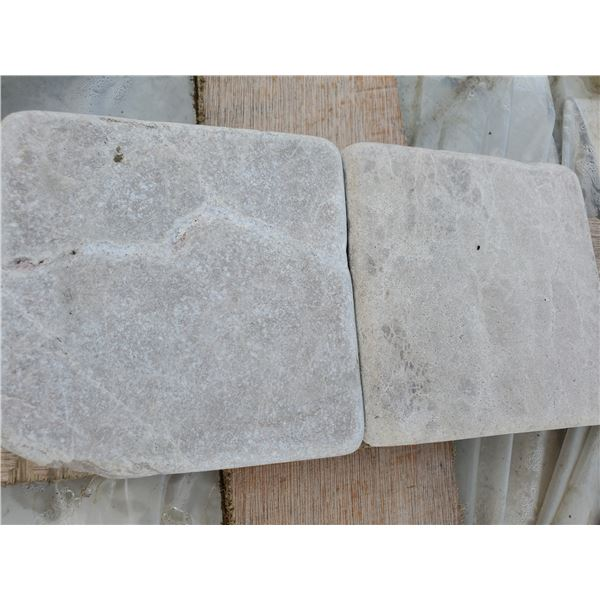"""PALLET OF 3000 PCS OF 4X4"""" CREMA CLASSIC MARBLE TILE"""