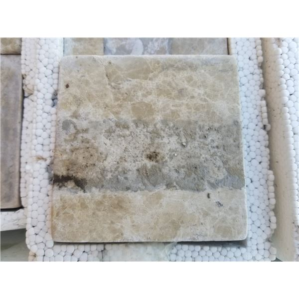 """PALLET OF 3240 PCS OF 4X4"""" CREMA CLASSIC MARBLE TILE"""