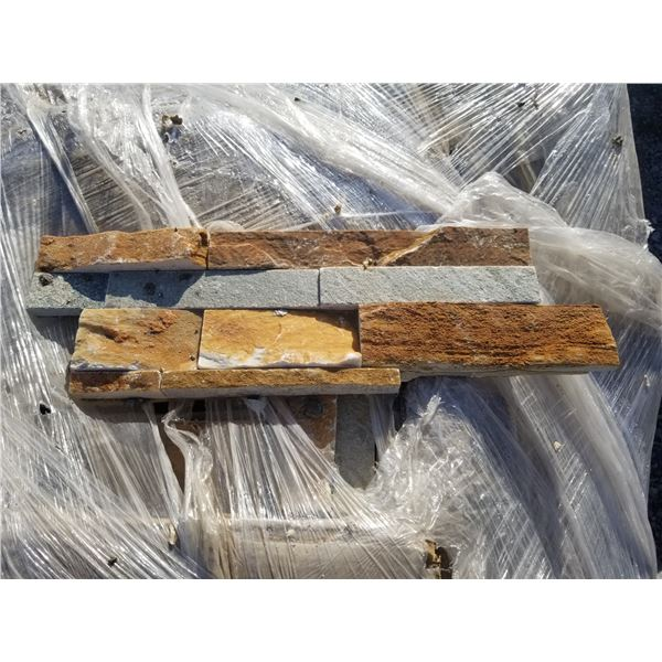 PALLET OF APPROX 250 PCS OF WALL STONE