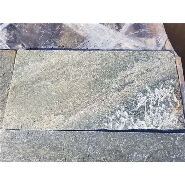 """PALLET OF APPROX 300 PCS OF 12X24"""" GREY SLATE TILE"""