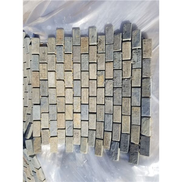 """PALLET OF 282 PCS OF 1X2"""" ON 12X12"""" SHEETS MULTI-BROWN SLATE TILE"""