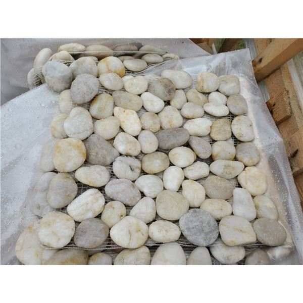"""PALLET OF APPROX 300 PCS OF 12X12"""" SHEET STONE MOSAIC TILE"""