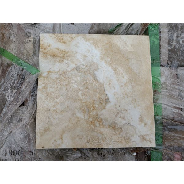 """PALLET OF APPROX 100 PCS OF 6.6X6.5"""""""" CLASSIC BEIGE WALL TILE"""