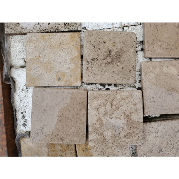 """PALLET OF 1620 PCS OF 4X4"""" CAPPUCCINO TILE"""